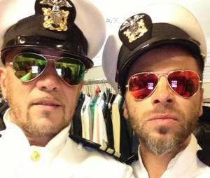 Christophe Maé et Pascal Obispo dans les coulisses des Enfoirés 2014
