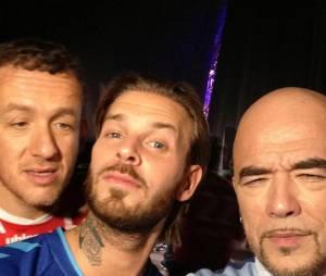 Dany Boon, M. Pokora et Pascal Obispo dans les coulisses des Enfoirés 2014