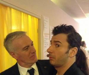 Didier Deschamps et Michael Youn dans les coulisses des Enfoirés 2014