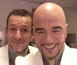 Dany Boon et Pascal Obispo dans les coulisses des Enfoirés 2014