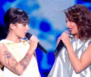 Alizée et Tal lors des NRJ Music Awards 2014 sur TF1