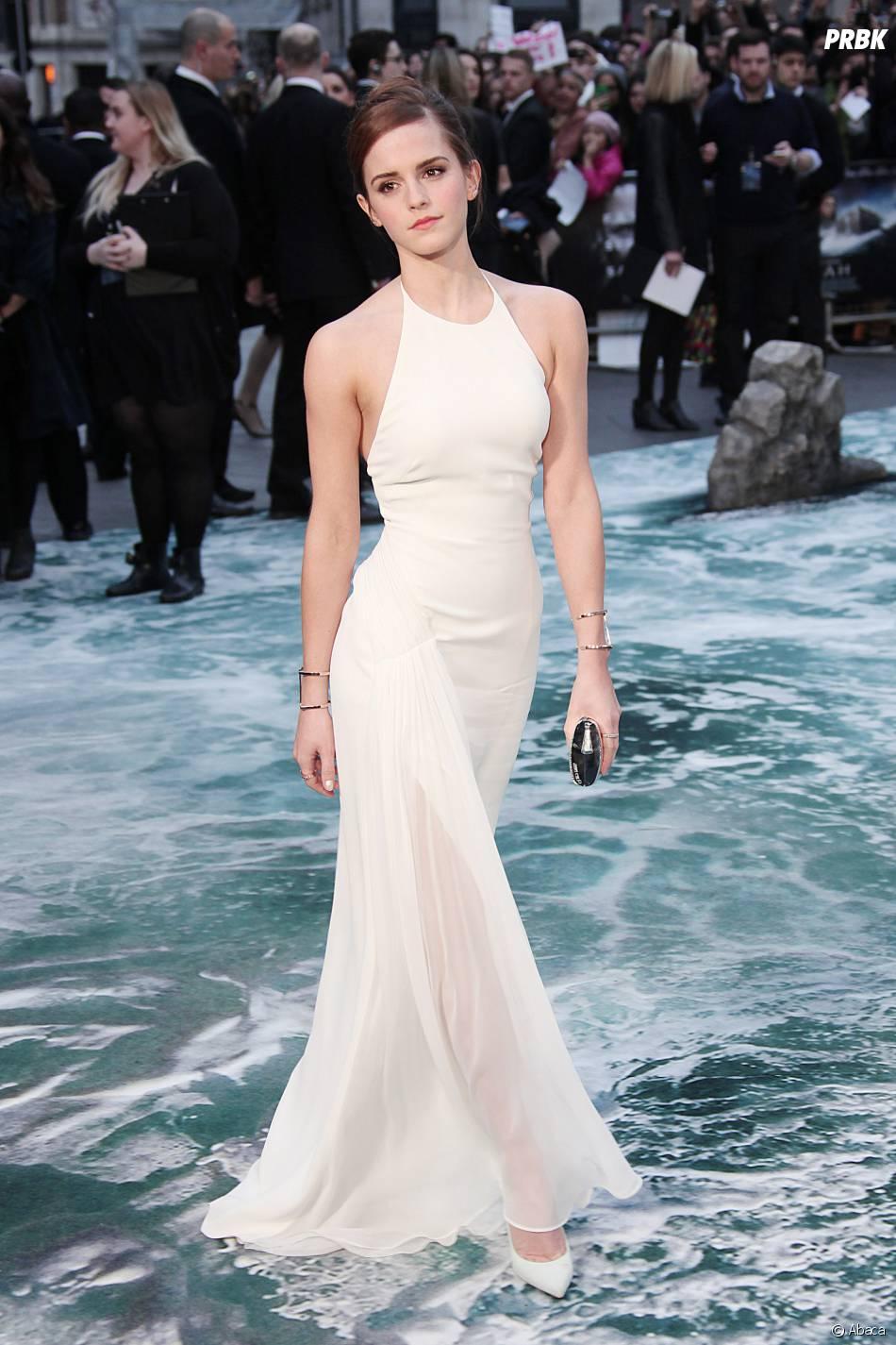 Emma Watson sublime pour présenter Noé, le 31 mars 2014 à Londres