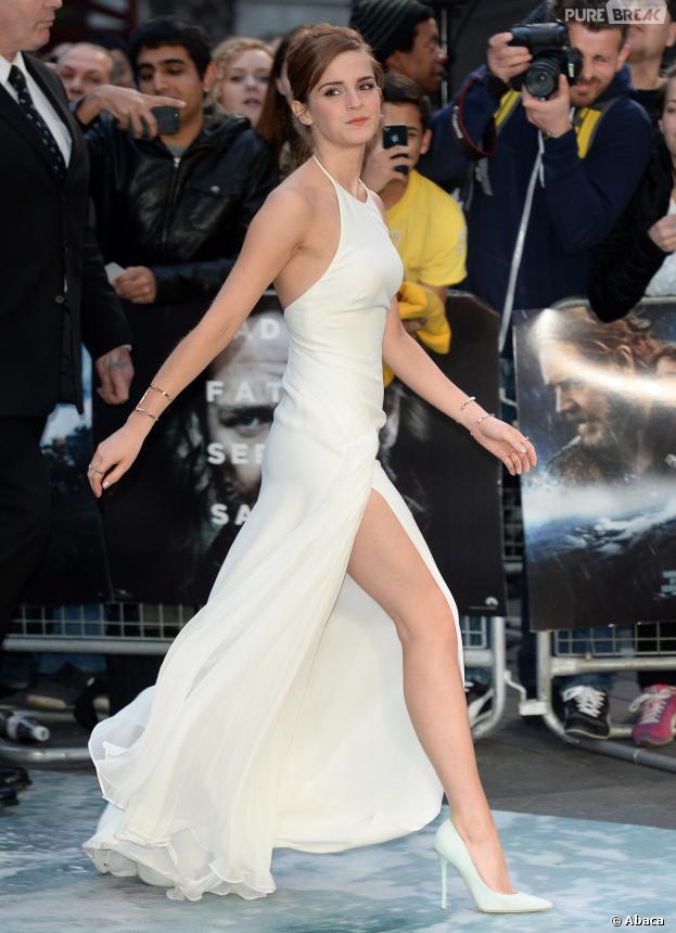 Emma Watson sexy sur le tapis rouge de Noé, le 31 mars 2014 à Londres