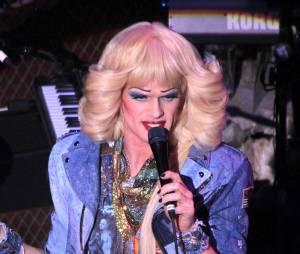 Neil Patrick Harris transformé en drag queen dans la comédie musicale Hedwig and the Angry inch au Belasco Theater de New York, le 31 mars 2014
