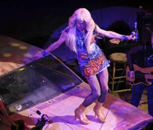 Neil Patrick Harris habillé en drag queen dans la comédie musicale Hedwig and the Angry inch au Belasco Theater de New York, le 31 mars 2014