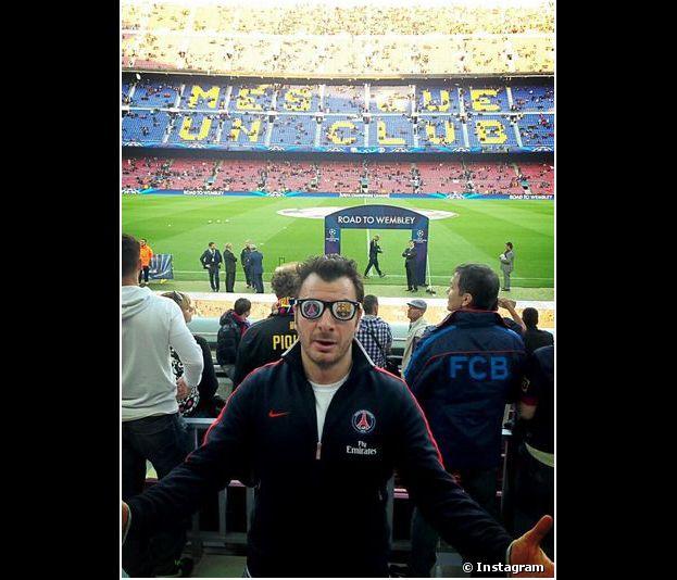 Michael Youn au Camp Nou pour soutenir le PSG pendant la Ligue des Champions 2013