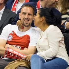 Franck Ribéry et sa femme Wahiba : bisous et câlins au bord du terrain