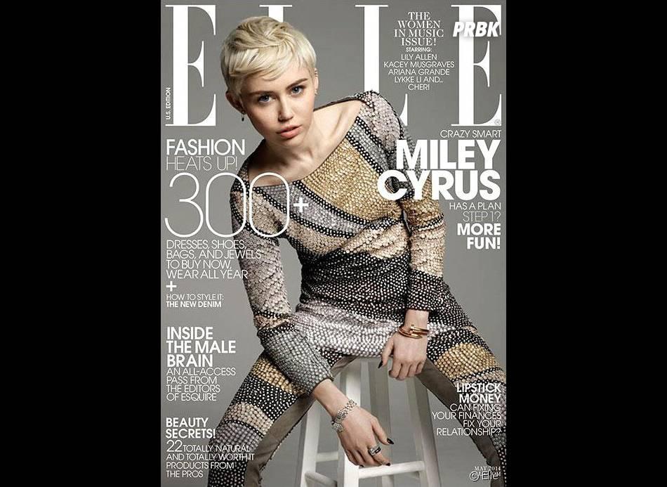 Miley Cyrus en couverture du magazine Elle pour avril 2014