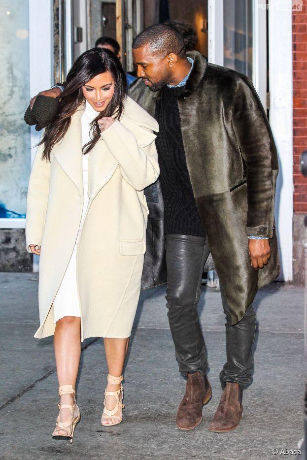 Kim Kardashian et Kanye West étaient de passage à Paris pour la robe de la mariée