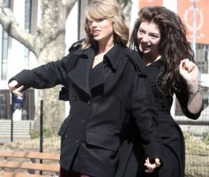 Lorde et Taylor Swift : complices à New York, le 9 mars 2014