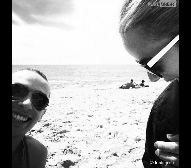 Alizée et Grégoire Lyonnet : amoureux à la plage le 1er mai 2014