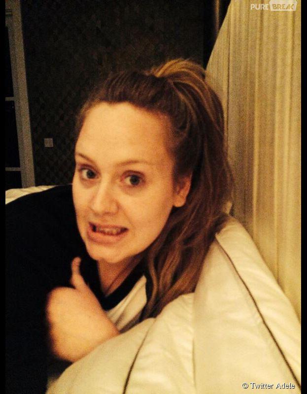 Adele : amincie et au naturel pour ses 26 ans