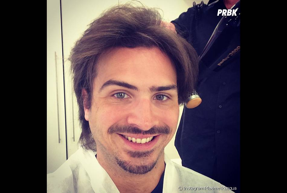 Maxime Musqua sans ses bouclettes sur Instagram