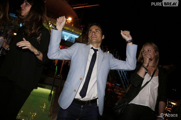 Bertrand Chameroy en soirée à la Villa Schweppes au Festival de Cannes 2014, le vendredi 16 mai