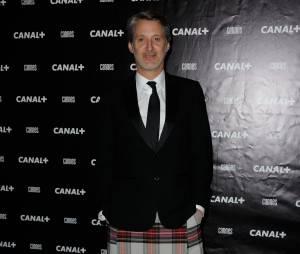 Antoine de Caunes à la soirée Canal + au Festival de Cannes 2014, le vendredi 16 mai