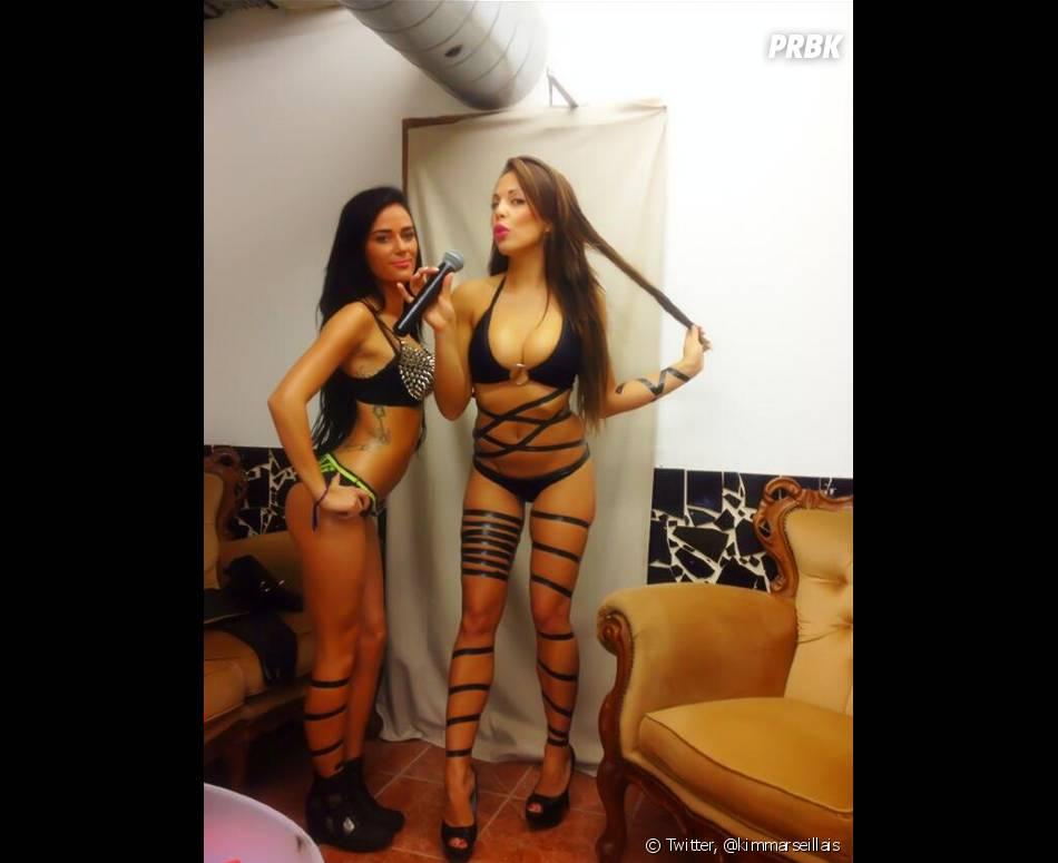 Les Marseillais à Cancun : Kim et Kelly sexy en cuir