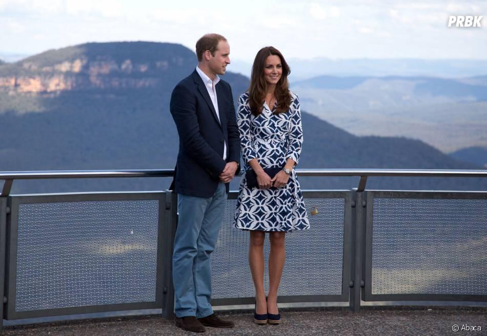Kate Middleton et le Prince William lors de leur visite des Blue Mountains en avril 2014 en Australie
