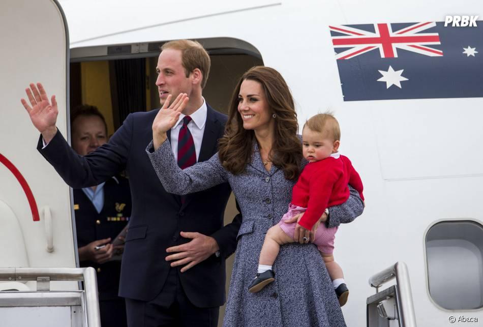 Kate Middleton, le Prince William et leur fils George en avril 2014