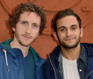Malik Bentalha et Baptiste Lecaplain au Village de Roland Garros le mardi 3 juin 2014