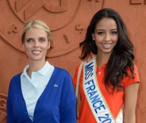 Flora Coquerel et Sylvie Tellier à Roland Garros le 3 juin 2014