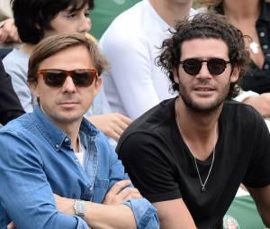 Martin Solveig dans les tribunes à Roland Garros le 4 juin 2014