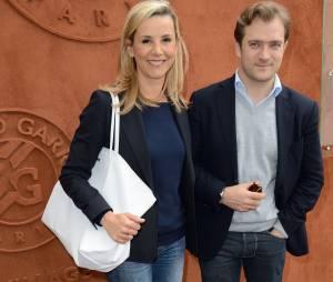 Laurence Ferrari en charmante compagnie à Roland Garros le 3 juin 2014