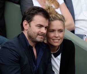 Clovis Cornillac et sa femme à Roland Garros le 3 juin 2014