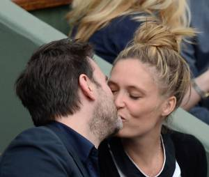 Clovis Cornillac complice avec sa femme à Roland Garros le 3 juin 2014