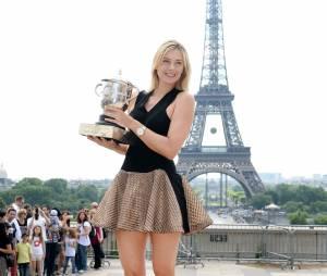 Maria Sharapova sexy à Paris après sa victoire en finale de Roland Garros 2014