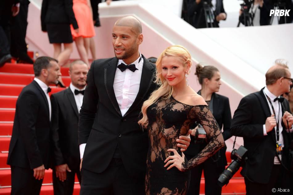 Tatiana Laurens et Xavier Delarue sur le tapis rouge du Festival de Cannes, le 21 mai 2014