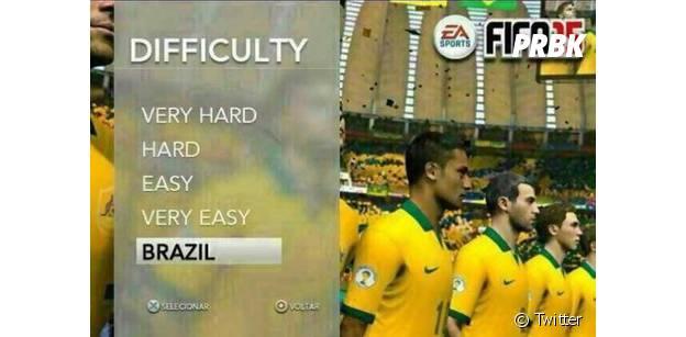 Un cliché détourné de FIFA 15 se moque de la défaite des Brésiliens au Mondial 2014