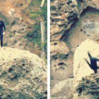 [VIDEO] Justin Bieber tente un salto et se mange un plat mémorable à la mer
