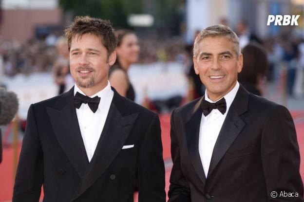 George Clooney et Brad Pitt, amis à l'écran et à la ville