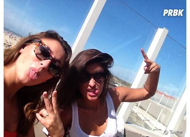 Malika Ménard et Rachel Legrain-Trapani en vacances au Touquet, en août 2012