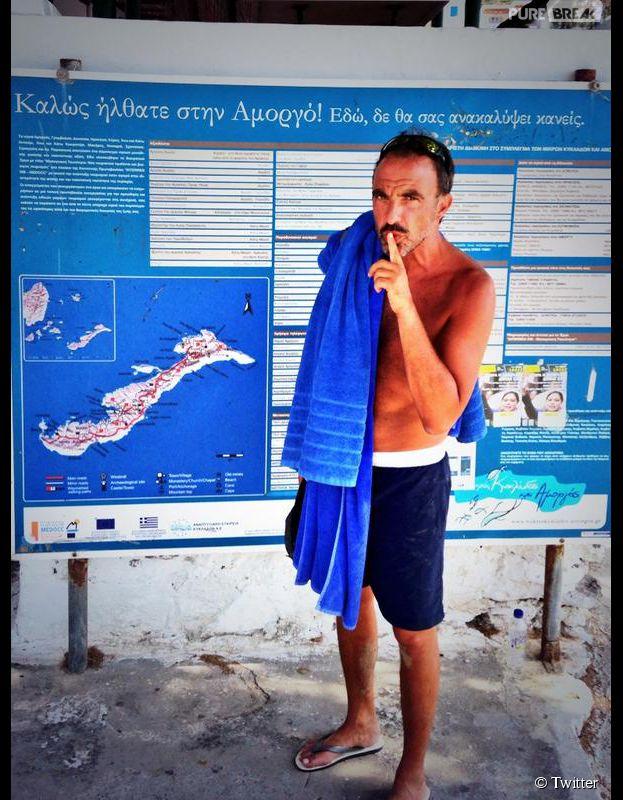 Nikos Aliagas : souvenir de ses vacances d'été en Grèce, juillet 2014