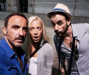 Nikos Aliagas : souvenir de ses vacances d'été en Grèce avec Stéphanie Rizou, une ex candidate de The Voice, juillet 2014