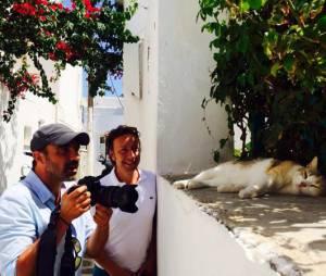 Nikos Aliagas : souvenir de ses vacances d'été en Grèce avec Stéphane Bern, juillet 2014