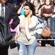 Kim Kardashian, devant les studios de l'émission de Jimmy Kimmel à Hollywood, le 4 août 2014