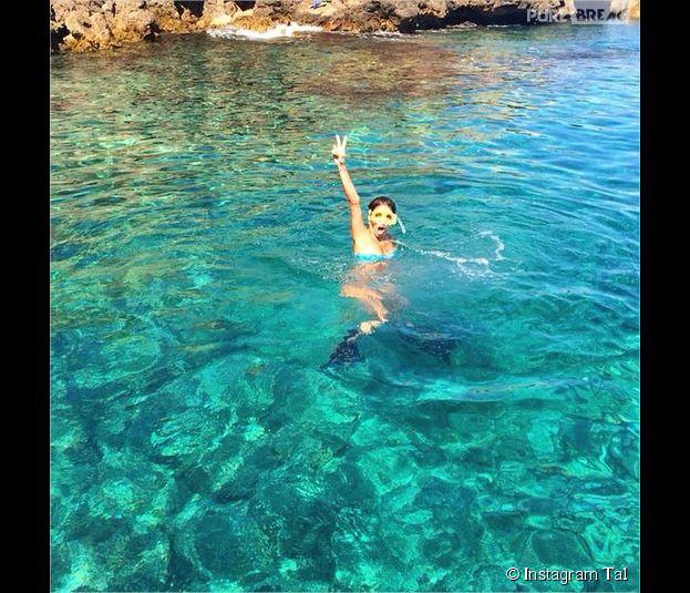 Tal : bikini et plongée pour ses vacances en août 2014