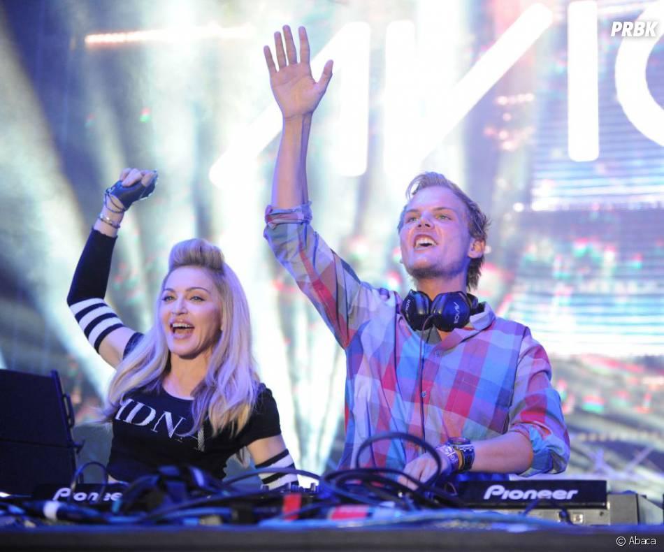 Avicii, ici au côté de Madonna, est le 3ème DJ le mieux payé du monde en 2014