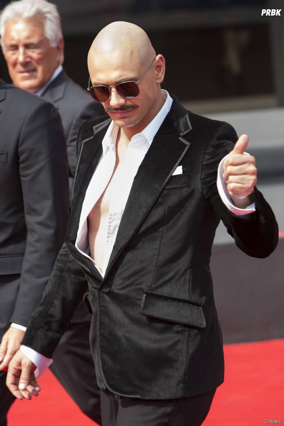 James Franco méconnaissable au Festival du Film de Venise, le 5 septembre 2014