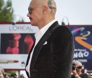 James Franco, le crâne rasé, au Festival du Film de Venise, le 5 septembre 2014