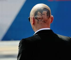 James Franco et son tatouage (éphémère) au Festival du Film de Venise, le 5 septembre 2014