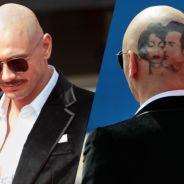James Franco moustachu, chauve et tatoué à Venise : les photos chocs