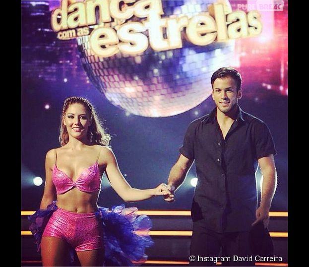 David Carreira et sa partenaire Ana en finale de Danse avec les Stars au Portugal