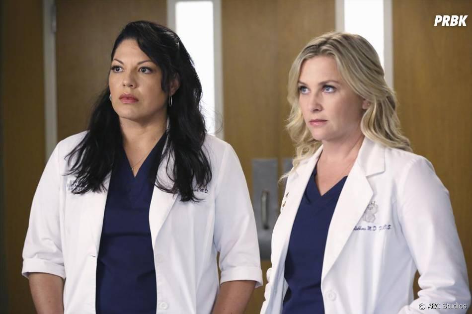 Grey's Anatomy saison 11, épisode 1 : Sara Ramirez et Jessica Capshaw sur une photo