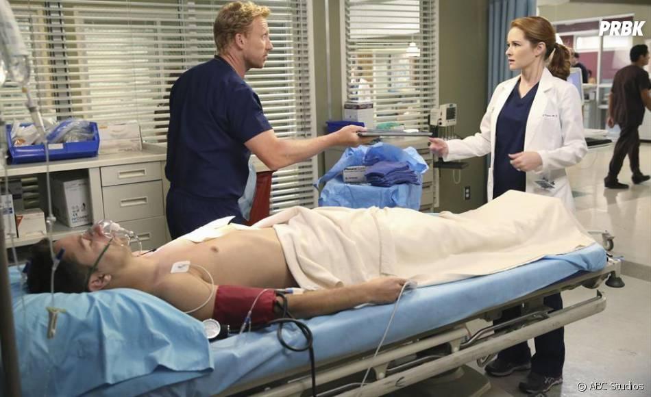 Grey's Anatomy saison 11, épisode 1 : Sarah Drew et Kevin McKidd sur une photo