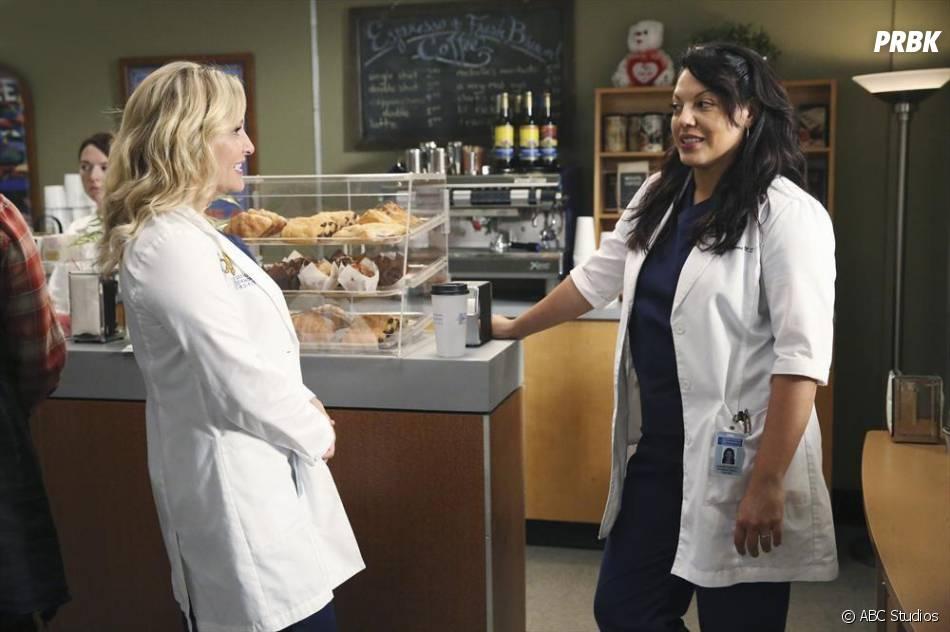 Grey's Anatomy saison 11, épisode 1 : Jessica Capshaw et Sara Ramirez sur une photo