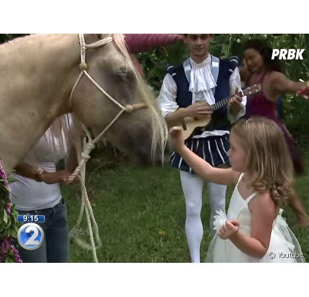 Addison, atteinte d'une leucémie, réalise son rêve et rencontre une licorne