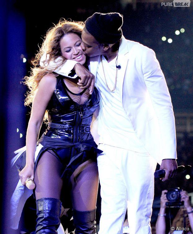 Beyoncé et Jay Z pendant les concerts du On The Run Tour, en juillet 2014